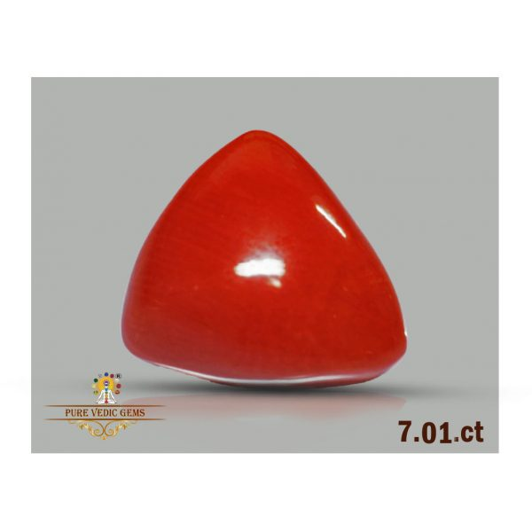 Red Coral 7.01ct-X064